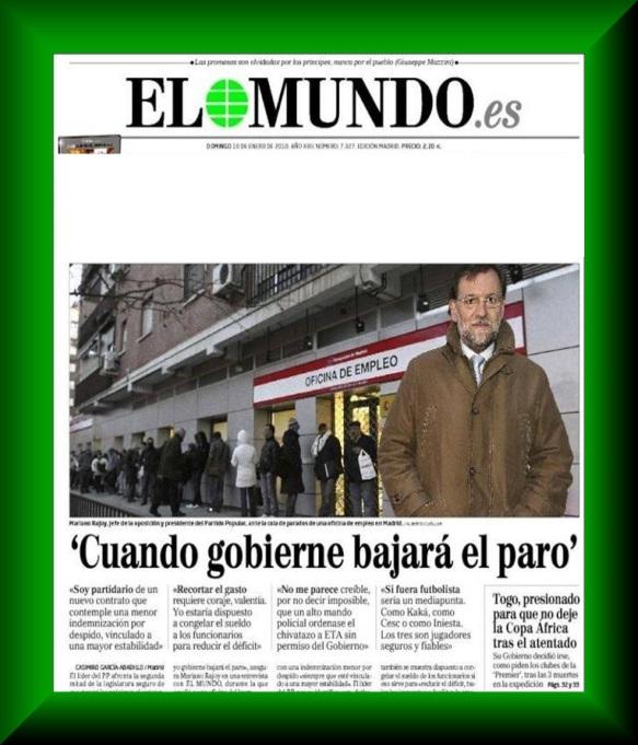 Rajoy cuando gobierne bajara el paro